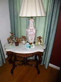 Many nice antique furniture pieces