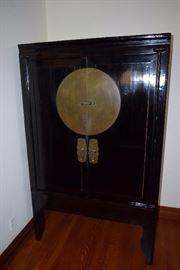 large  black lawyer antique hutch