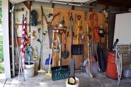 garage tools, yard tools