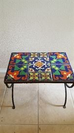 San Jose pottery tile bench, very rare!