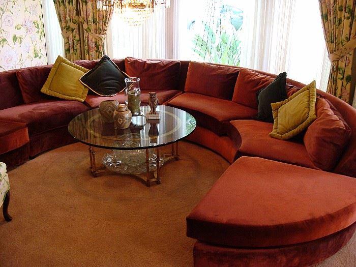 Mid century circular sofa-in great condition!