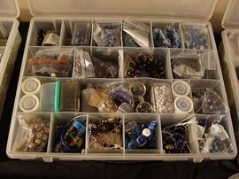 Trays and trays of jewelry making items of all sorts!