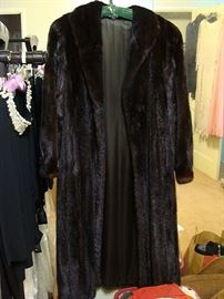 Fabulous full length Mink (not fox-mistake) fur coat