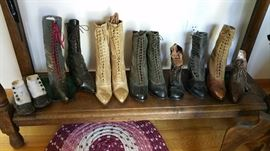 antique shoes and boots...most are singles