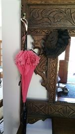 vintage parasol and hat