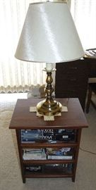 ASSORTED LAMPS AND SMALL TABLES