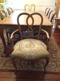2 dining arm chairs
