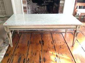 vintage marble-top coffee table