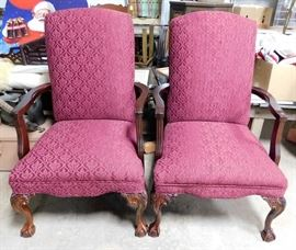 Ball and Claw Victorian Chairs