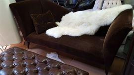 Custom Designer MoHair Sofa