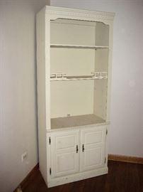 corner cabinet, painted