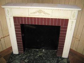 fireplace mantel 1950s