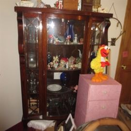 Antique Curios Filled with vintage collectibles
