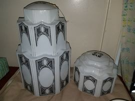 VERY Rare Pair of Resturant Light Fixtures!  Estimated 1920's