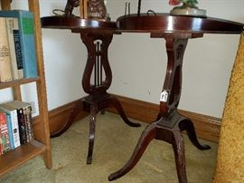Two Mersman Lyre Harp Tables