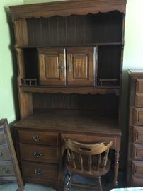 American Drew desk (2 pieces), and chair.  PRE-SALE $175