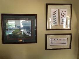 Plenty of golf artwork & memorabilia or Augusta National, Pinehurst, pebble beach by C. Skelly & more!