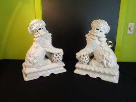 Ethan Allen made in Italy Foo Dogs