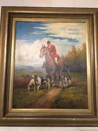 framed hunt scene