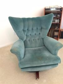 G Plan High back wing swivel chair #6250