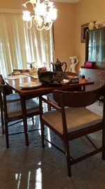 Mid Century Modern Table &  Chairs