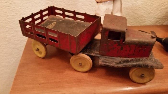 Antique Toy Truck Wooden Wheels