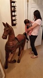 Huge Carved Horse Tang Style
