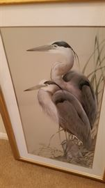 Beautiful Cranes Lithograph- Signed