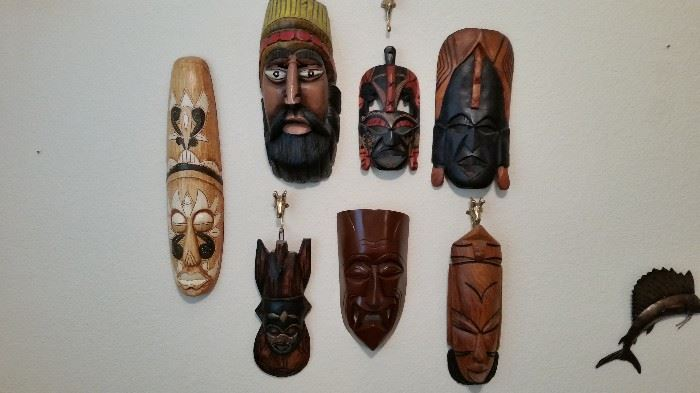 Carved Masks from all over the World