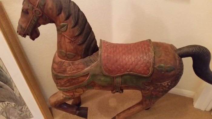 Life size Tang Style Carved Horse