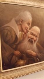 Very Old Chinese Oil Painting- Signed