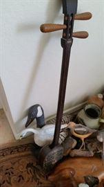 Antique Japanese Shamisen Instrument. Turtle Shell Body