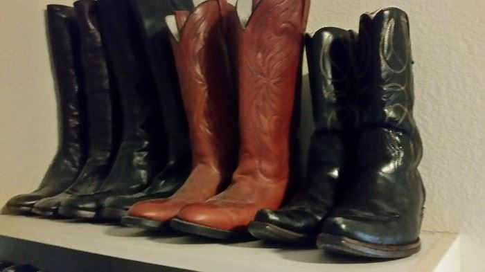 Leather Women's Boots Size 8