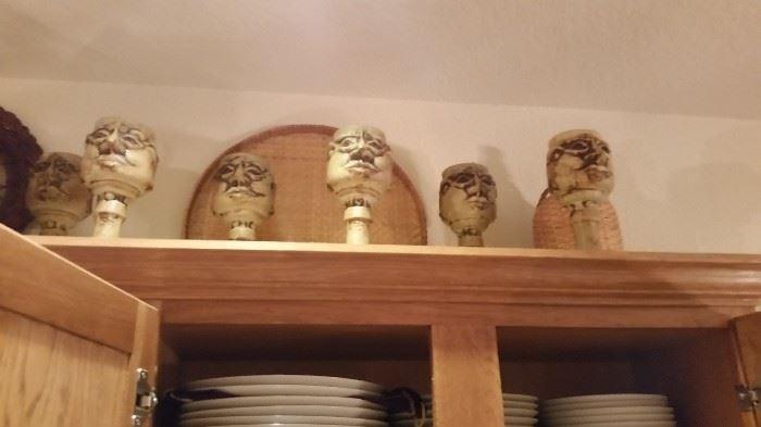 Pottery Face Goblets