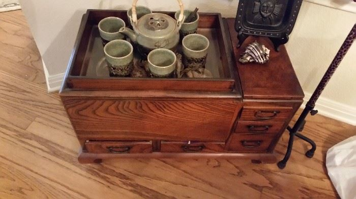 Vintage Or Antique Japanese Wood Hibachi- Very Cool