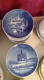 B&G Christmas Plates From 1955 up