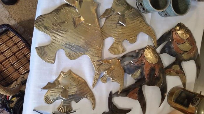 Brass and Copper Fish