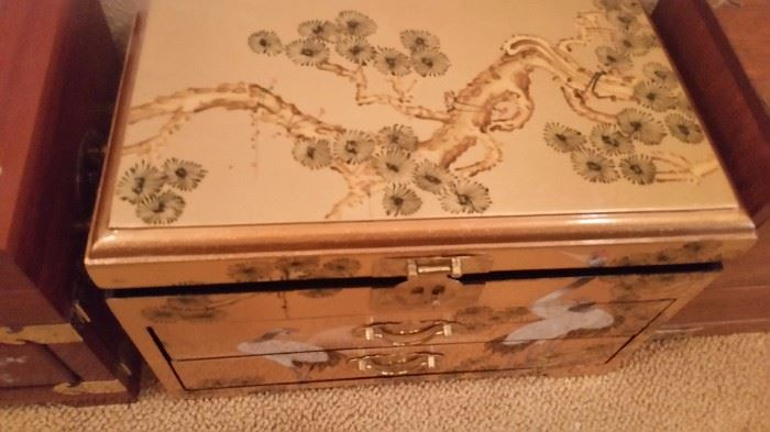 Inlaid and Fancy Jewelry Boxes