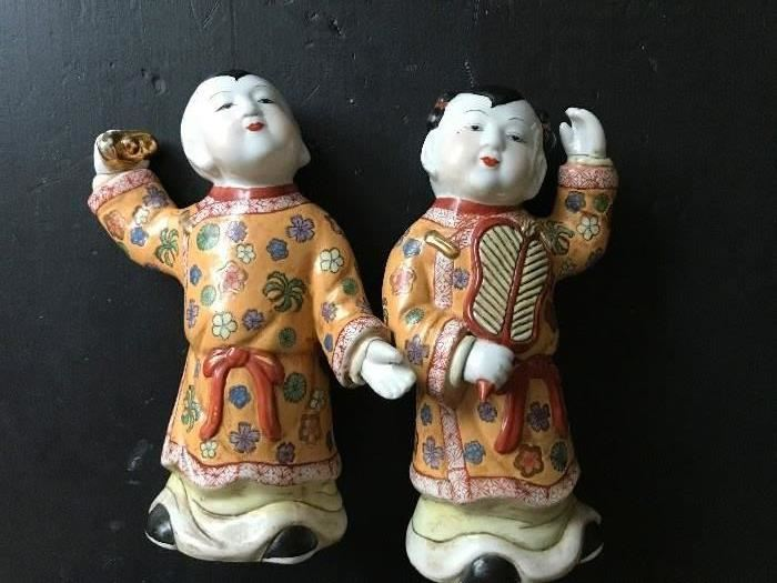 Qing Dynasty Daoguang Porcelain Figures- Early to mid 1800's- OF THE PERIOD- RARE RARE