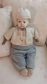 1911 Composition head boy doll, cloth body