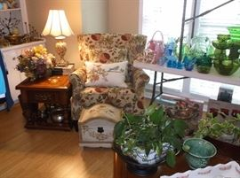 Pair of side chairs and side tables