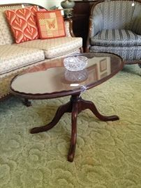 Antique oval coffee table