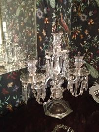 One of two matching candelabras