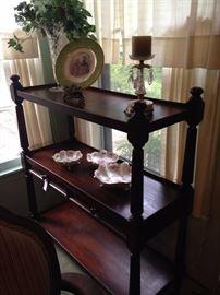 Handsome three-tiered antique shelf