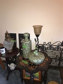 Decorative IMPORT ITEMS, TABLES, LAMPS