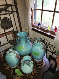IMPORTED JUGS, VASES