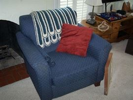 BLUE EASY CHAIR--MATCH TO SOFA