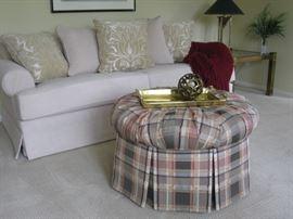 Norwalk sofa and pouf ottoman
