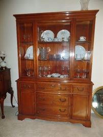 Really great for the holiday entertaining- Lighted China Cabinet