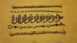 STERLING BRACELETS - FEATURING A VINTAGE MEXICAN BEAUTY SIGNED BY ALFREDO VILLASNA